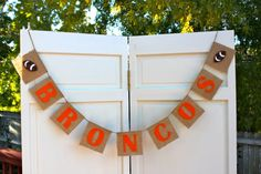 Denver Broncos Banner, Superbowl, Peyton Manning, Football, Decoration