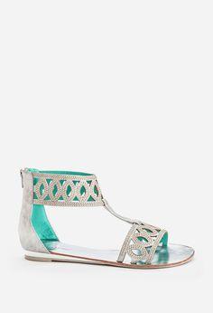Silver Sparkle Zone Gladiator Sandal
