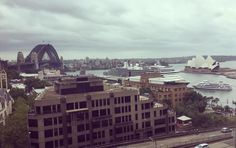 Not even the gloomy weather could ruin this view    #sydney #sydneyharbourbridge #sydneyoperahouse #holidays #viewfromhotelroom by sarah_mortensen95 http://ift.tt/1NRMbNv