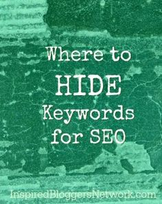 SEO - hiding keywords