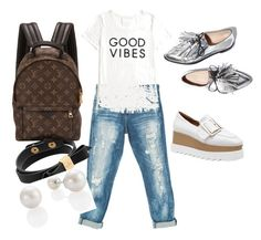 bcda46d72e5 A fashion look from September 2016 featuring white top