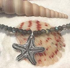 Beach Jewelry  Silver Starfish Necklace  by AriesArtisticJewelry