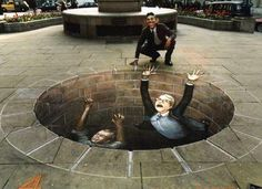 Julian Beever chalk street art