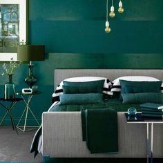 "Dark Green Bedroom from ""The Color Green"""