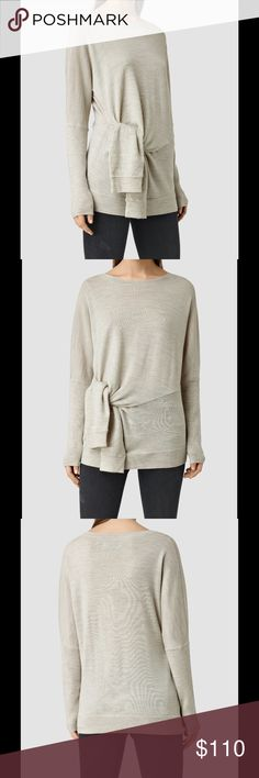 All Saints Knot Jumper 100% merino wool. Color mist grey. All Saints Sweaters Crew & Scoop Necks