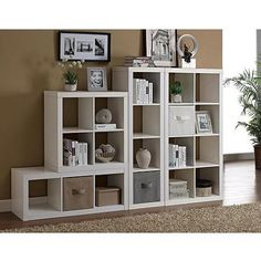 Better Homes and Gardens Square 4 Cube Storage Organizer Multiple Colors Cube Bookcase, Cube Shelves, Bookcase White, Bookshelves In Bedroom, Cubby Storage, Storage Cubes, Cube Organizer, Better Homes And Gardens, Diy Wood Projects