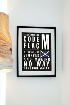 Buy 3 get the 4th free-  Letter M - Bus Roll International Code Flag - My vessel is stopped and making no way through water
