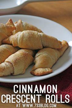 Cinnamon Crescent Rolls {Recipe}