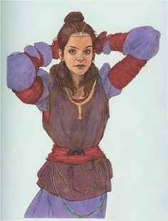 Star Wars - Queen Padme Naberrie Amidala  - Phantom Menace -concept art