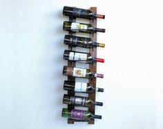 Rustic Wall Mounted Wine Rack Wood Wine Rack 8 by AdliteCreations