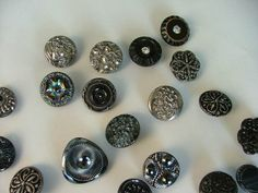 My treasures, Czek glass buttons from my own stash...