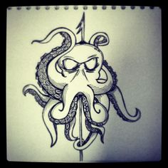 Just a quick ink drawing of an octopus in a tattoo design style! Description from deviantart.com. I searched for this on bing.com/images