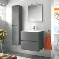 Gabinete genova de empotrar gris colors - Salle de bain blanche et grise ...