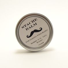 Moustache balm! A moust'ave for hairy upper lips everywhere. We're loving the cute packaging as well.