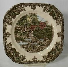 friendly village by johnson brothers | JOHNSON-BROTHERS-china-FRIENDLY-VILLAGE-Square-Salad-Dessert-Plate ...