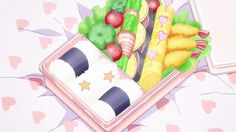 Find images and videos about food, anime and drawing on We Heart It - the app to get lost in what you love. Anime Bento, Aesthetic Food, Aesthetic Anime, Aesthetic Japan, Anime Cake, Anime Places, Food Cartoon, Anime People, Food Drawing