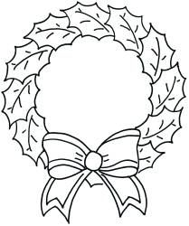 Downloads the latest Coloring Pages Christmas Wreath