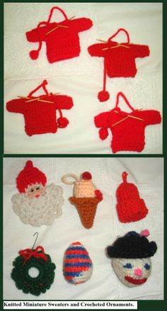 knitted and crocheted oranaments