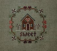 Completed Cross Stitch Sweet by Little House Needleworks Christmas Ornament