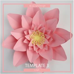 Paper Flower Template | PDF Version | Base and Instrution Including | Lilah | #3 by LsCraftDesign on Etsy