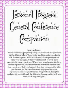 Metas do Progresso Pessoal para cumprir na Conferência geral