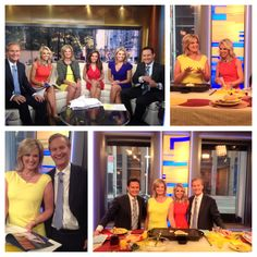 """Spent the morning with FOX & Friends talking about my new book """"The Romney Family Table."""" We had such a fun time; it was good to see this group again!"""