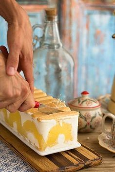 tarta de yogurt y piña