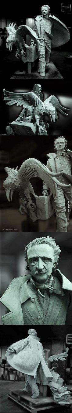 Awesome new Edgar Allan Poe statue