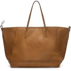 Zara Everyday Shopper (105 BRL) ❤ liked on Polyvore featuring bags, handbags, tote bags, bolsas, purses, borse, sac, leather, brown tote and brown leather handbag