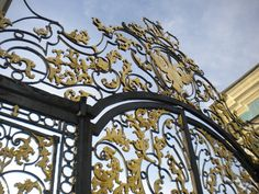 Gate to Catherine the Great's castle in Russia