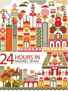 24 horas en Madrid, España