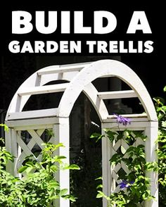 Find out how to build a simple garden trellis archway for vegetables, vines and flowers, and get into vertical gardening right.