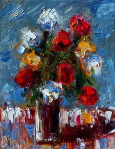 Flowers in Vase Still Life painting by Debra Hurd, painting by artist Debra Hurd