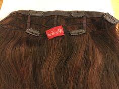 "Jon Renau 100% Human Hair Color 6/33 EasiVolume 18"" Clip-in Hair Extensions #JonRenau #HairExtension"