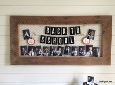 Start the year off right with a DIY Back to School Photoshoot Display. A great way to show current photos and photos from years past.