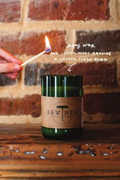 Rewined Candles | All natural soy wax, 100% cotton wicks
