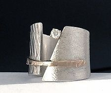 Conversation Piece by Dagmara Costello (Gold, Silver & Stone Ring)