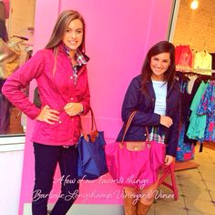Longchamp, Barbour and Vineyard Vines.... A few of our favorite things