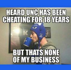 #unccheats Duke Bball, Duke Basketball, Basketball Stuff, College Basketball, Duke Shirts, Duke Vs, Coach K, Duke Blue Devils, Duke University