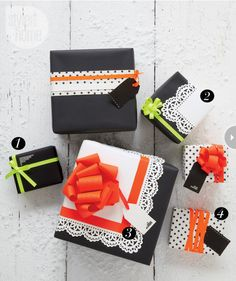 create cleverly crafted holiday packages for everyone on your gift list.....Handmade modern