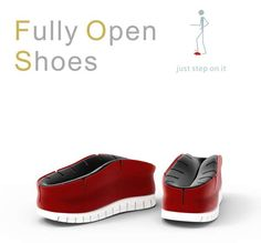 The Fully Open Shoe Makes It Easier for the Elderly to Dress Themselves #design #creativity trendhunter.com