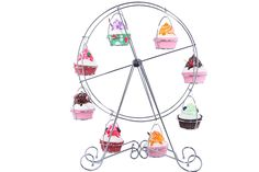 Cup Cake Rack 12 x 19 inches - Ferris Wheel Cake Rack- Bakers Kitchen Wedding Birthday Party Circular Steel Wire Tier Cooling Pastry Cake Cupcake Stand - 19' * Details can be found by clicking on the image.