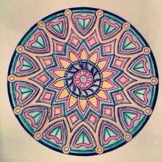 Mandala Pattern of pastel colors