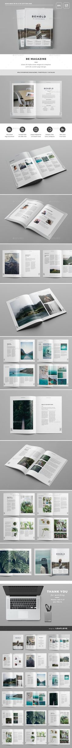 Be Magazine - Magazines Print Templates Magazine Cover Template, Page Layout Design, Booklet Design, Publication Design, Corporate Design, Print Templates, Magazine Design, Editorial Design, Magazines