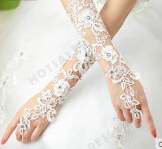 Elbow Length Fingerless Glove Party/Wedding Gloves lace Bridal Gloves
