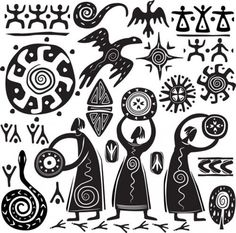 pre columbian drawings