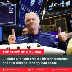 DE MODE (@demodemagazine) posted on Instagram • Jul 11, 2021 at 7:22pm UTC Richard Branson, Billionaire, History, Instagram, Fashion Styles, Historia