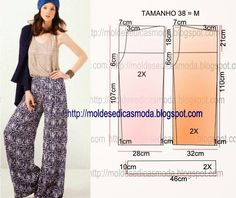 Best 10 17 ideas sewing pants easy pjs for 2019 – SkillOfKing. Sewing Patterns Free, Clothing Patterns, Dress Patterns, Sewing Pants, Sewing Clothes, Diy Pantalon, Boho Hose, Diy Vetement, Couture Sewing