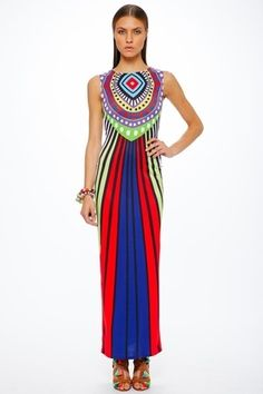 28823e48842cd Mara Hoffman Spirit Rays Fitted Maxi Dress in Violet on shopstyle.com  Boutiques In Atlanta