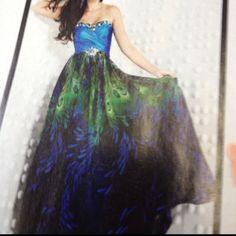 Peacock dress :)